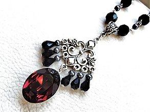 Náhrdelníky - Burgundy queen diamond - 2829528