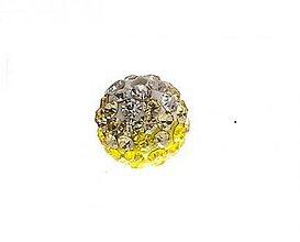 Korálky - shamballa korálky CZ kryštál bieložlté, 10mm, 0.57€/ks - 2829551