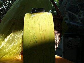 Dekorácie - Váza zelená hranatá - Zelená tráva IV. - 2832783