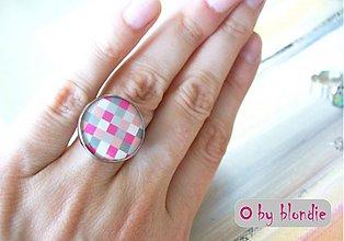 Prstene - Cubes Pink - prsteň - 2832934