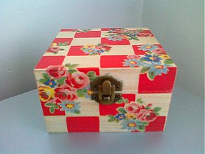 Krabičky - Krabička-Kocky a ružičky - 2834499