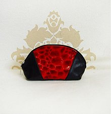 Taštičky - Kozmetická taštička alebo peračník- Black & red - 2838416