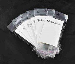 Obalový materiál - dárkové kartičky na naušnice B09344/ biela/ 90x50mm/ 100ks - 2839789