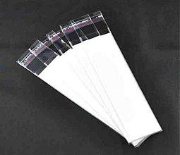 Obalový materiál - dárkové kartičky na naušnice/ biela/ 130x35mm/ 5ks - 2839812