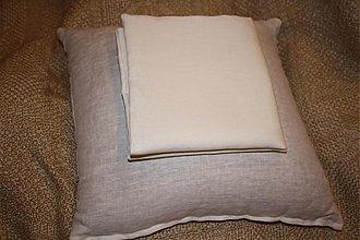 Úžitkový textil - Špaldový vankúšik s obliečkou - 285180