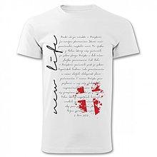Tričká - Pánske tričko biele NEW LIFE - 2854364