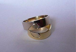 """Prstene - Dvojfarebné obrúčky """"corazón ♥""""  lesklé - 2859675"""