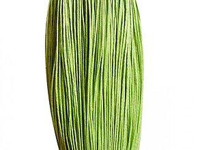 Galantéria - NAV3287, ŠNÚRKA Voskovaná 1.5mm ZelenoŽLTÁ /1m - 2868485