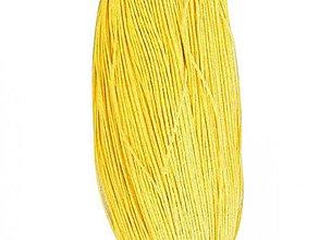 Galantéria - NAV3294, ŠNÚRKA Voskovaná 1.5mm ŽLTÁ /1m - 2868714