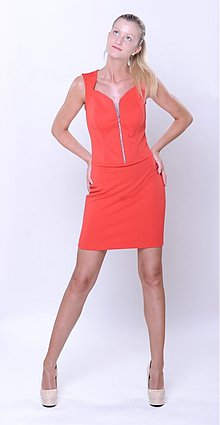 Šaty - Elastické šaty na zips rôzne farby - 2869110