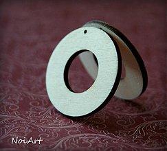 Materiál ručne robený - Kruh s výrezom,  4 cm - 2871993
