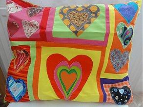 Úžitkový textil - Fantastické srdiečka - 2872469