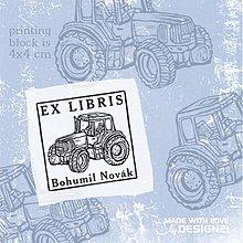 Drobnosti - Traktor: pečiatka (4x4 cm) - 2873381