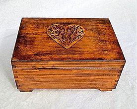 Krabičky - Srdcovka patinovaná - 2873991