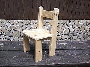Nábytok - Detská stolička drevená - 2878297
