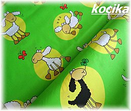 Textil - 100% bavlna-ovečky - 2880324