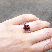 Prstene - 685 - Mini ruža - tmavá bordovo-hnedá - 2886077