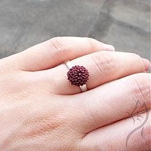 Prstene - 699 - Mini chryzantéma - tmavá bordovo-hnedá - 2886634