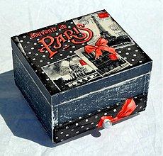 Krabičky - Šperkovnica Souvenir de Paris - 2887165