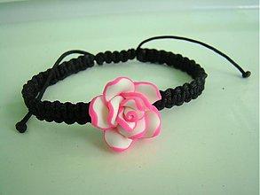 Náramky - Kvietkový neon ružový - 2889346