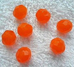 Korálky - Sklenené brúsené korálky 8mm-1ks - 2890953