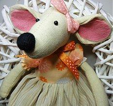 Dekorácie - Veniec s myškou v sukienke - 2895084