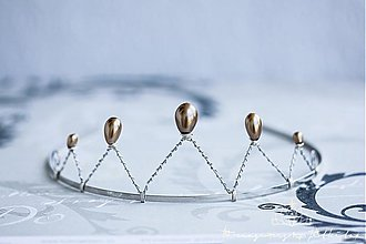 Ozdoby do vlasov - princess of golden drops - 2895122