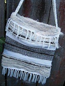 Kabelky - Tkaná taška čiernobiela - 2900694