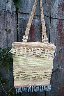 Kabelky - Tkaná taška pestrožltá - 2900934