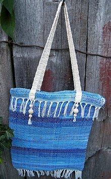 Kabelky - Tkaná taška modrá - 2900979