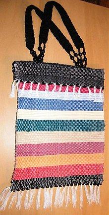 Kabelky - Tkaná taška pestrofarebná pásikavá - 2903341