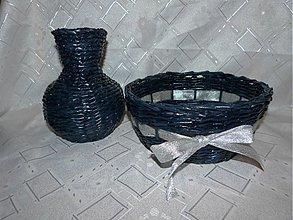 Košíky - Vaza a košiček z papiera.. ) - 2907385