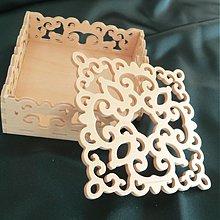 Polotovary - Ažúrová krabička na vyrezávané podložky - 2907634