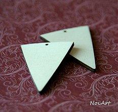 Polotovary - Základ na náušnice obrátený trojuholník - 2907922