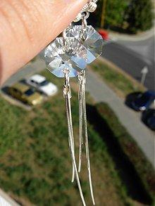 Náušnice - Luxusné strieborné náušnice so Swarovski kryštálmi - 2909195