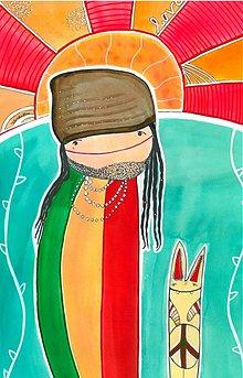 Obrazy - rastafarián - 2910620