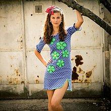 Šaty - Origo šaty bodka kvety Nr - 2912814