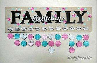 Dekorácie - kalendár rodinných sviatkov - 2915841