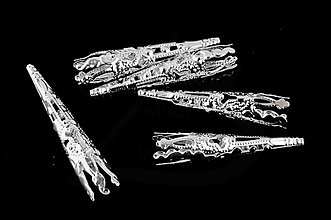 Komponenty - KAP1217, KAPLÍK 41x8mm STRIEBORNÝ /10ks - 2917418