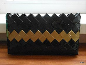 Kabelky - čierno zlatá do ruky - 2918953