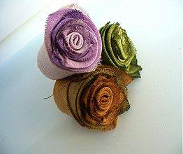 Materiál ručne robený - textilné čajové ružičky - 2922770