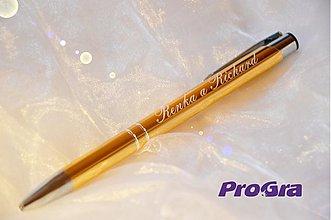 Darčeky pre svadobčanov - perečko s nápisom, menom alebo venovaním - AKCIA - 2926802