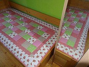 Úžitkový textil - Prehoz patchwork - pestrofarebné kocky - 2937977