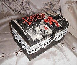 Krabičky - Drevená krabica-Paris - 2942711