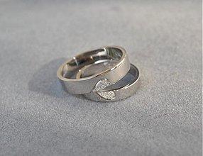 Prstene - Obrúčky  corazón ♥ ploché - 2942916