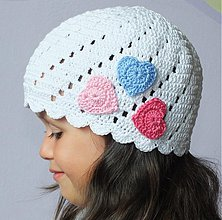 Detské čiapky - Srdénková čiapočka - 2943788