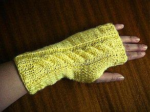 Rukavice - Slniečkovožlté rukavičky SKLADOM - 2945820