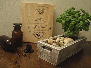 Nádoby - Drevený kvetináč-truhlík retro - 2946727