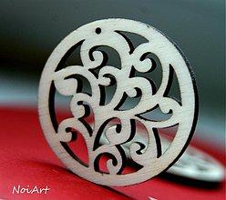 Materiál ručne robený - základ na náušnice ornamentík - 2954584
