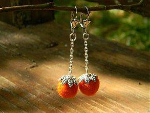 Náušnice - Šťavnatý pomaranč - 2956306